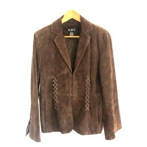 Suede leather jacket by Mixit. Brown.Size medium